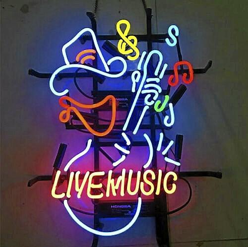 Neonskylt Live Music