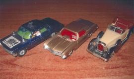 Modellbilar Corgi och Matchbox