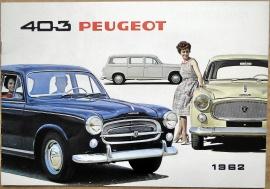 Broschyr Peugeot 403 1962