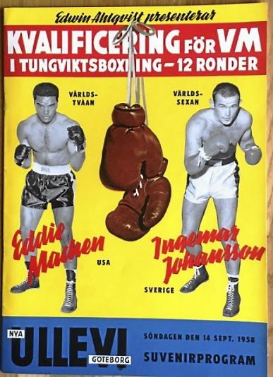 Matchprogram Ingemar Johansson - Eddie Machen 1958