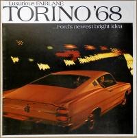 Broschyr Ford Torino 1968 i storformat