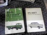 2 st handböcker Opel Kadett och Bedford