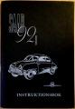 Saab 92B instruktionsbok 1957